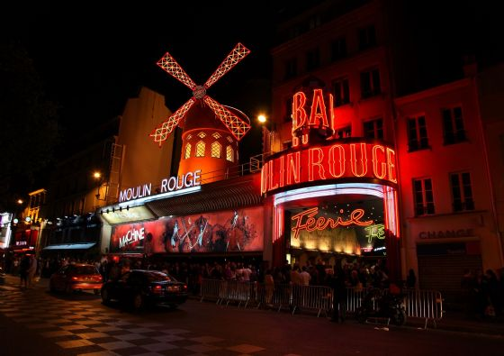 Moulin Rouge, Paris, France. Cabaret - Music Hall Print/Poster/Canvas. Sizes: A3/A2/A1